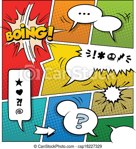 Color Comic Book Page Template - csp18227329