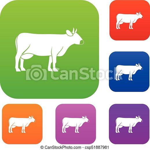 Coleccion de colores de vacas - csp51887981
