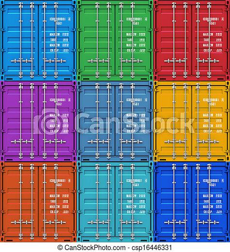 color, contenedores carga - csp16446331
