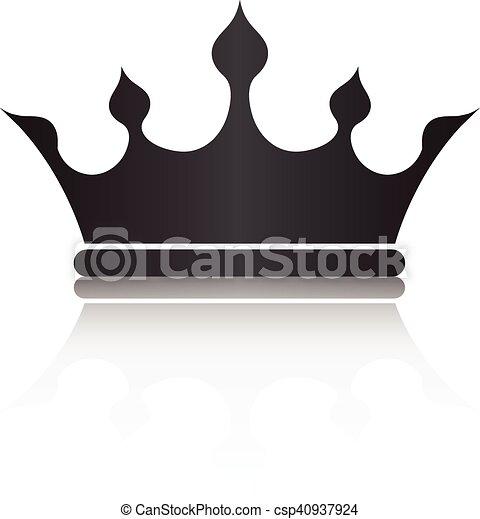 Color Corona Símbolo Aislar Ilustración Plano De Fondo Vector