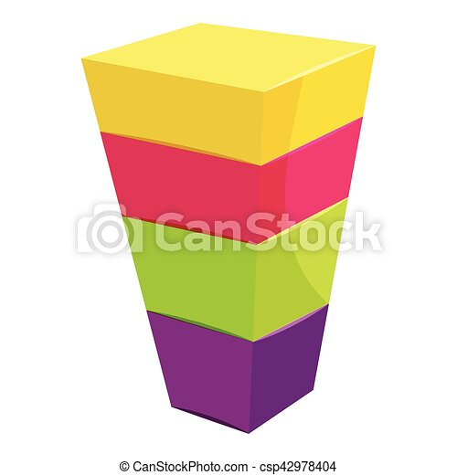 Color cubes stacked icon, cartoon style - csp42978404
