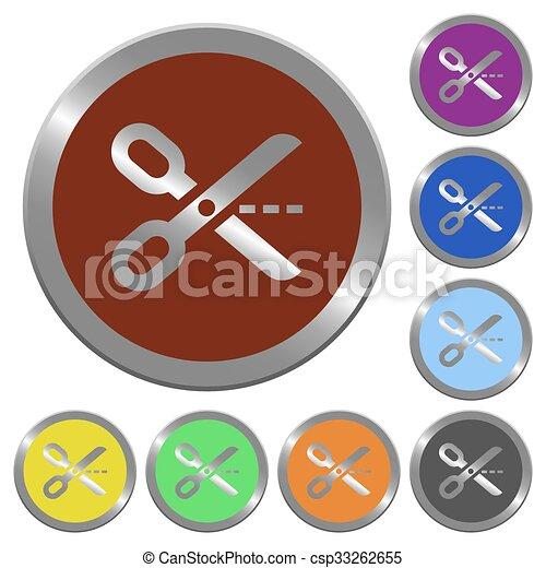 Color cut out buttons - csp33262655
