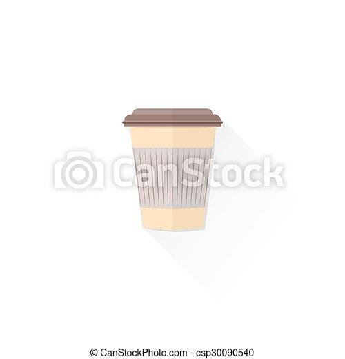 Color de la taza de café, ilustración, papel, comida para llevar ...