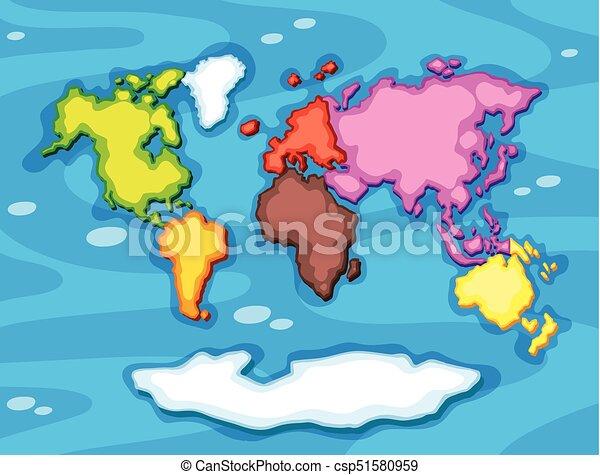 Color diferente continentes worldmap color ilustracin color diferente continentes worldmap csp51580959 gumiabroncs Images