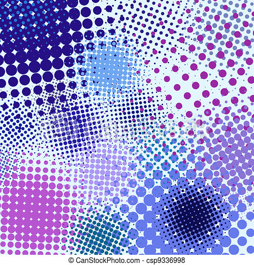 Color different abstract halftone object. EPS 8 - csp9336998