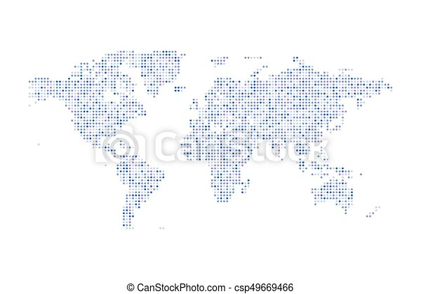 Color dotted political world map vector isolated illustration gumiabroncs Choice Image