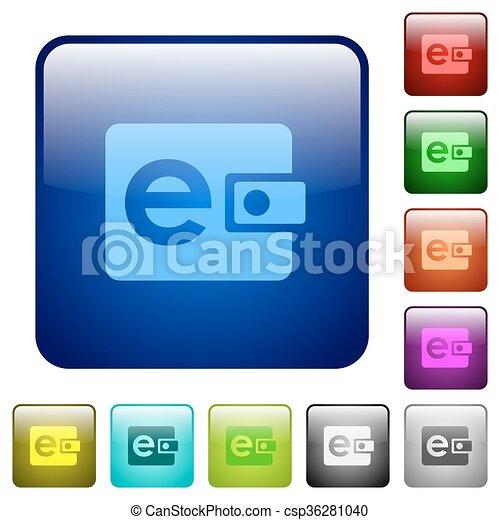 Color e-wallet glass buttons - csp36281040