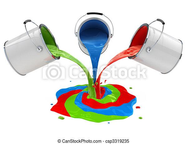 Color el verter cubos mezclar pintura el verter for Mezclar colores de pintura