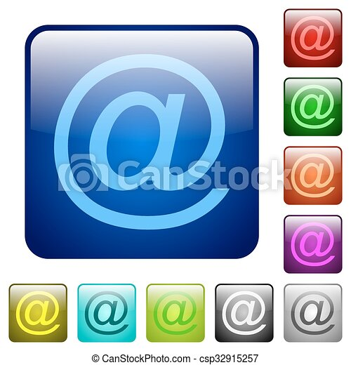 Color email square buttons - csp32915257