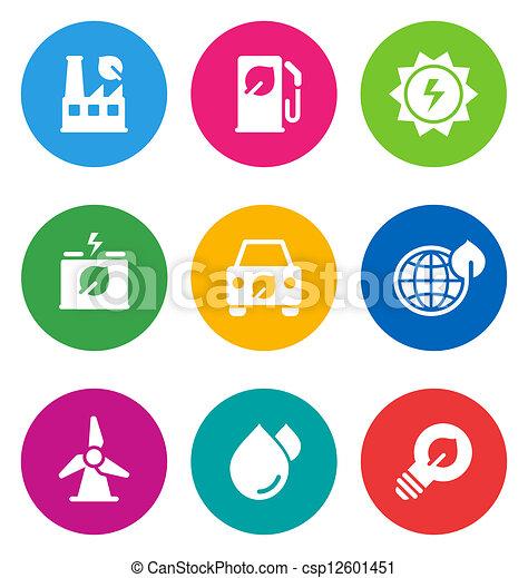 color environmental icons - csp12601451