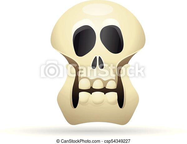Color, -, esqueleto, icono. Esqueleto, cráneo, halloween, color ...