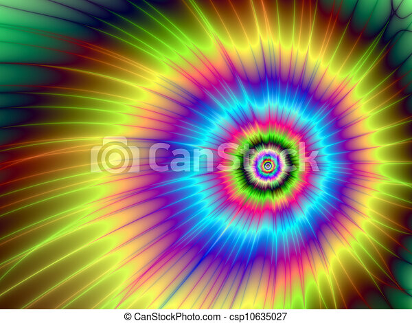 Color Design Art : Color explosion tie dyed digital abstract image with a clip