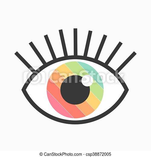 Color eye symbol - csp38872005