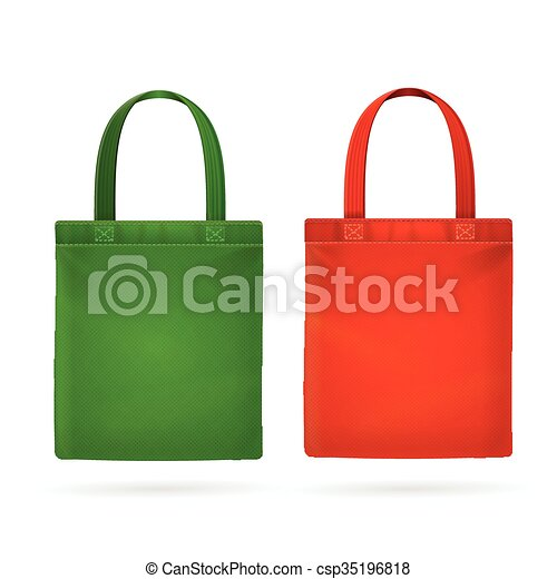 color fabric cloth bag tote vector illustration vector clip art rh canstockphoto com grocery bags clipart shopping bag clipart white