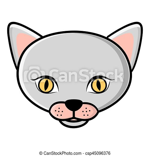 color face cat icon - csp45096376