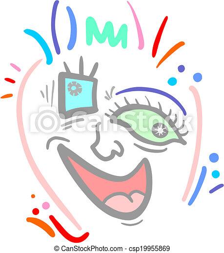 Color face - csp19955869