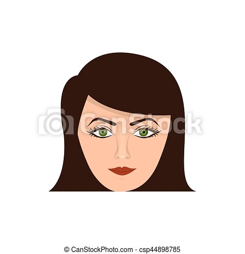 color face formal woman icon - csp44898785