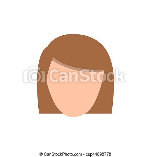 color face formal woman icon - csp44898778