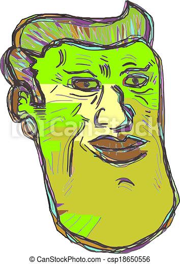 Color face man - csp18650556