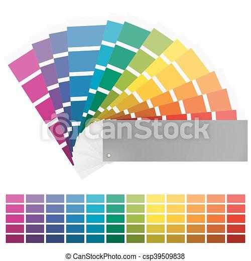 color fan with twelve colors - csp39509838