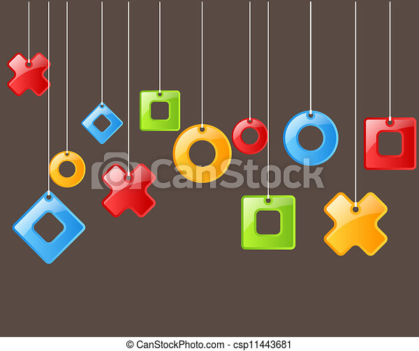 Color figures on rope. Background - csp11443681