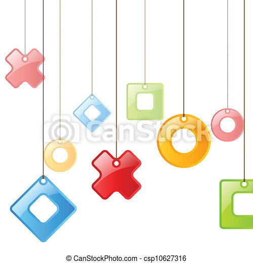 Color figures on rope. Background - csp10627316