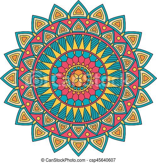 Color floral mandala vector illustration