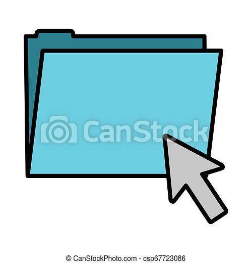 color folder file with arrow cursor mouse - csp67723086