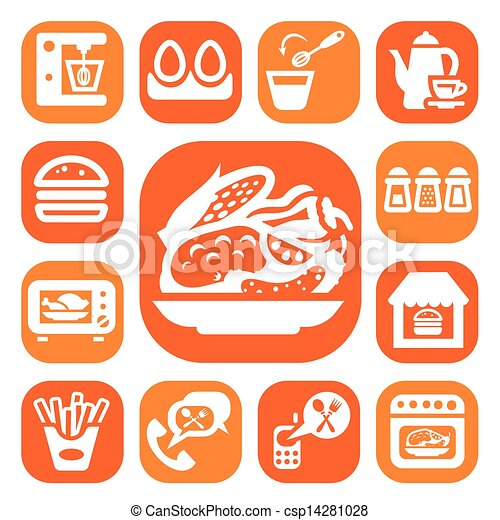 color food and kitchen icons - csp14281028