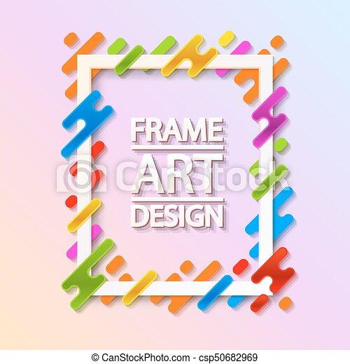 Color Frame Art Design Beautiful Frame