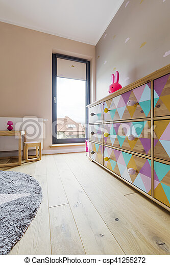 Color furniture in baby room - csp41255272