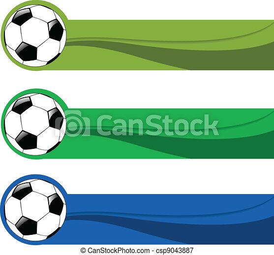 Color, futbol, conjunto, bandera, vector.