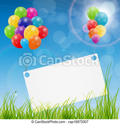 Color glossy balloons birthday card background vector vector color glossy balloons birthday card background vector illustration bookmarktalkfo Images