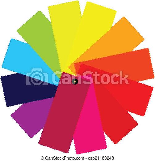 Color guide spectrum illustration - csp21183248