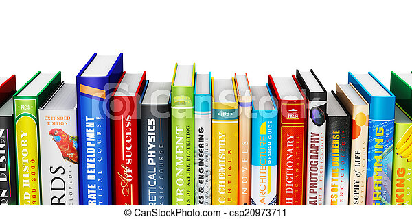 Color hardcover books - csp20973711