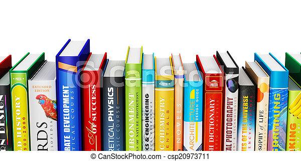 Color hardcover books - csp20973711