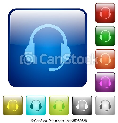 Color headset square buttons - csp35253628