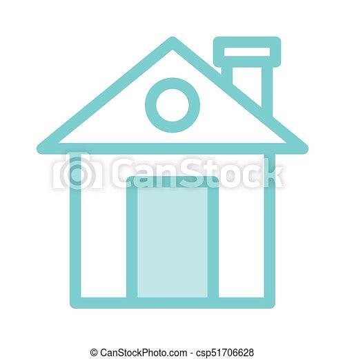 Color, hogar, línea, delgado, icono.