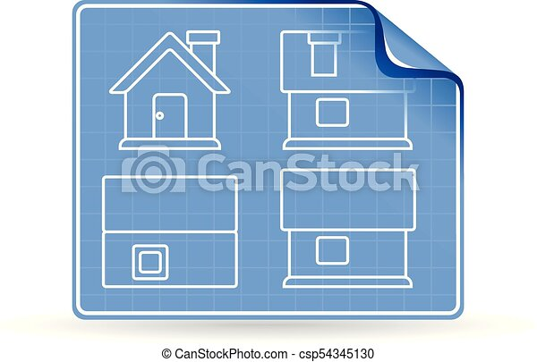 Color icon house blueprint blueprint icon in color vectors color icon house blueprint csp54345130 malvernweather Image collections