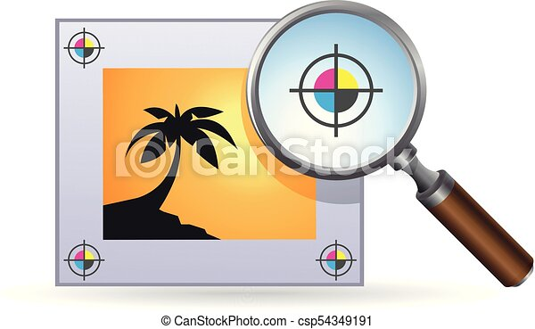 Color Icon - Printing quality control - csp54349191