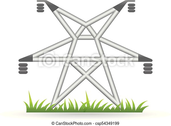 Color icon - pylon. Pylon icon in color. electricity high voltage.