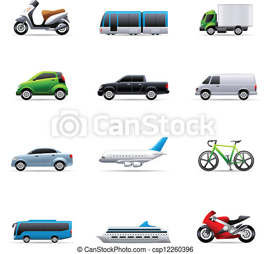 Color Icons - Transportation - csp12260396