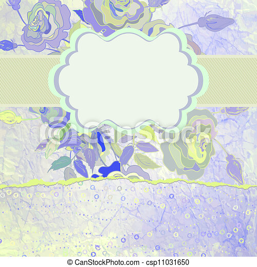 Color illustration of flowers. EPS 8 - csp11031650