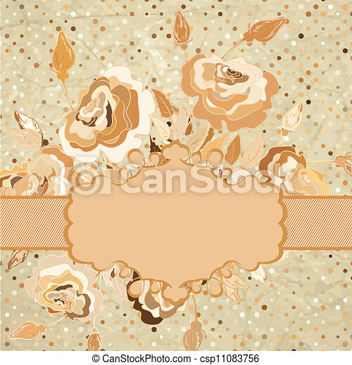 Color illustration of flowers. EPS 8 - csp11083756