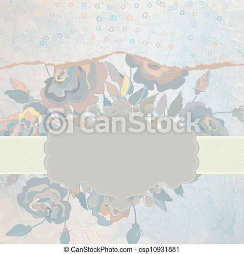 Color illustration of flowers. EPS 8 - csp10931881