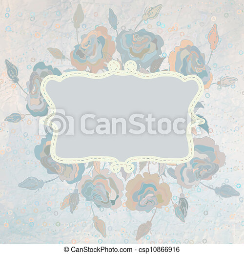 Color illustration of flowers. EPS 8 - csp10866916