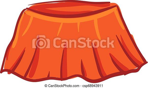 Vector de falda naranja brillante o ilustración de color - csp68943911