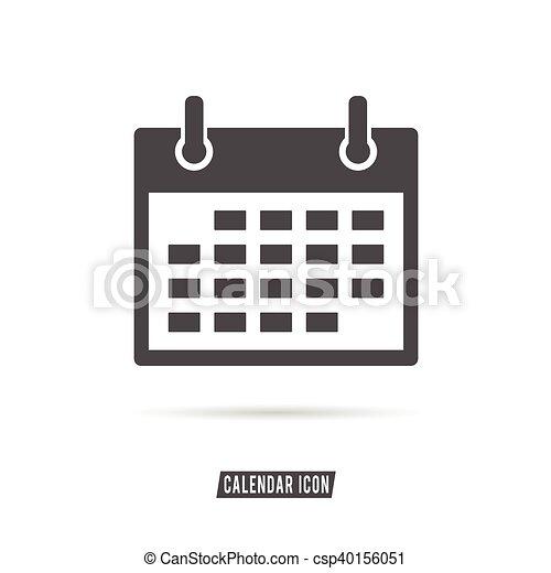 Calendario Dibujo Blanco Y Negro.Color Ilustracion Negro Calendario Blanco Icono