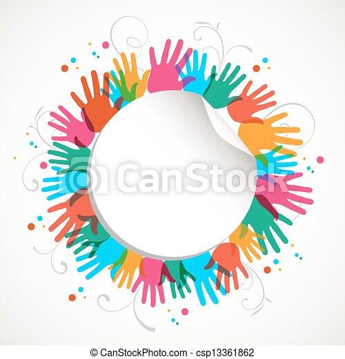 Círculo de impresión en color - csp13361862