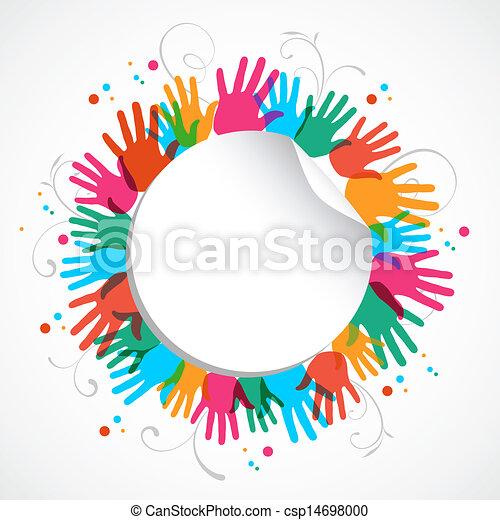 Círculo de impresión en color - csp14698000